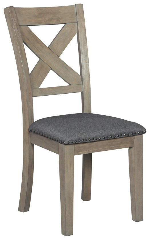 Aldwin - Dark Gray - Dining UPH Side Chair (2/CN)