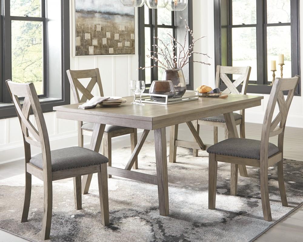 Aldwin Dark Gray Rectangular Dining Room Table D617 45
