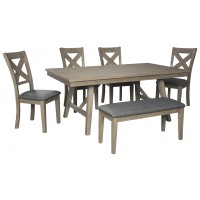 Aldwin - Dark Gray - Rectangular Dining Room Table
