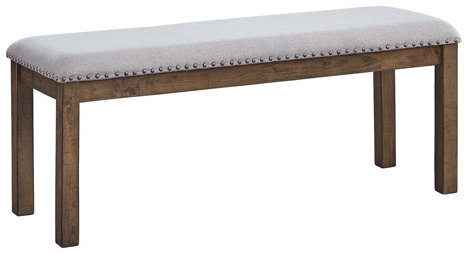 Moriville - Grayish Brown - Upholstered Bench