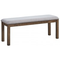 Moriville - Grayish Brown - Upholstered Bench