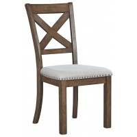 Moriville - Grayish Brown - Dining UPH Side Chair (2/CN)