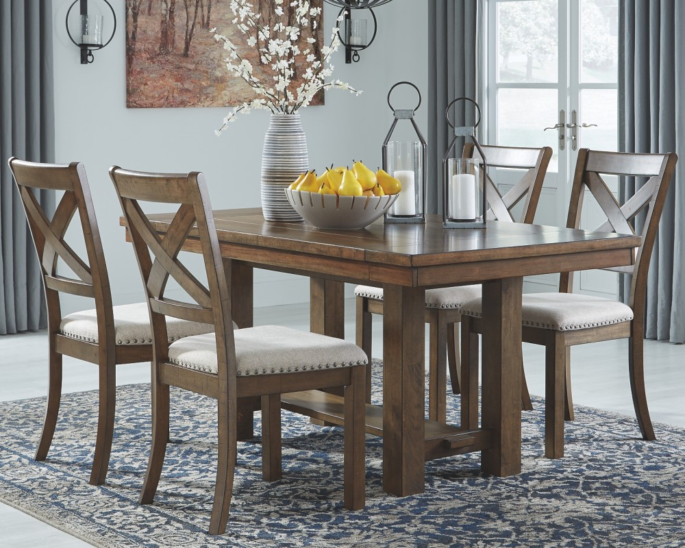 Moriville Grayish Brown Rect Dining Room Ext Table