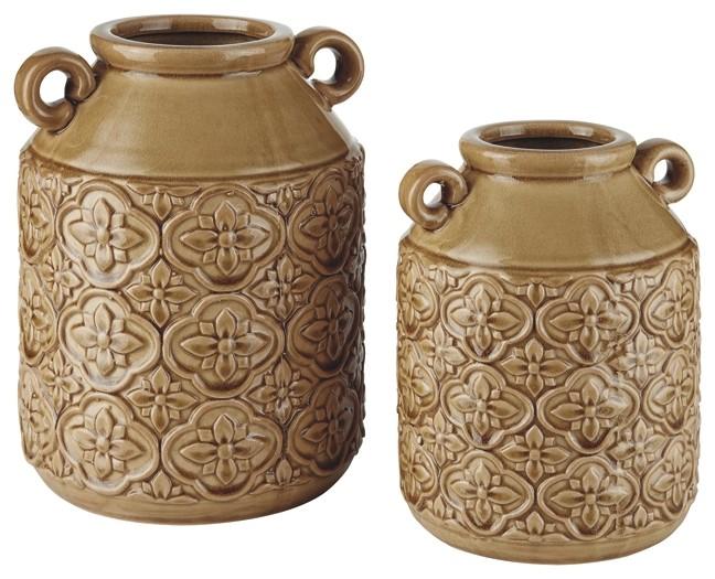 Edaline - Ochre - Vase (2/CN)
