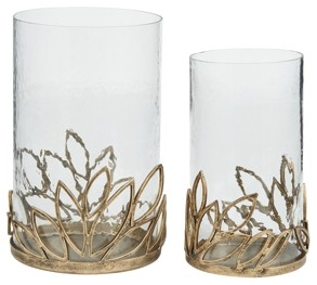 Pascal - Antique Gold Finish - Candle Holder Set (2/CN)