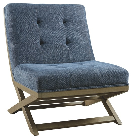 Sidewinder blue accent chair a3000134 chairs - Blue accent chairs for living room ...