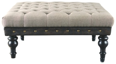 Moondusk - Beige/Brown - Oversized Accent Ottoman
