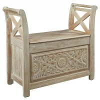 Fossil Ridge - White Wash - Accent Bench
