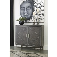Aidanburg - Antique Black - Accent Cabinet