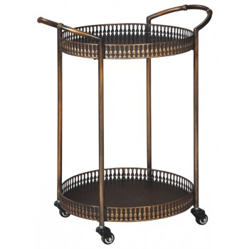 Clarkburn - Bronze Finish - Bar Cart