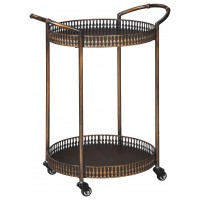 Clarkburn - Bronze Finish - Bar Cart