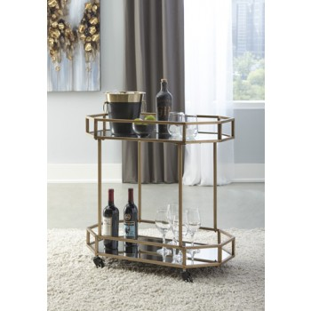 Daymont - Gold Finish - Bar Cart