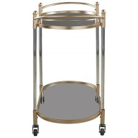 Cordland - Clear/Gold Finish - Bar Cart