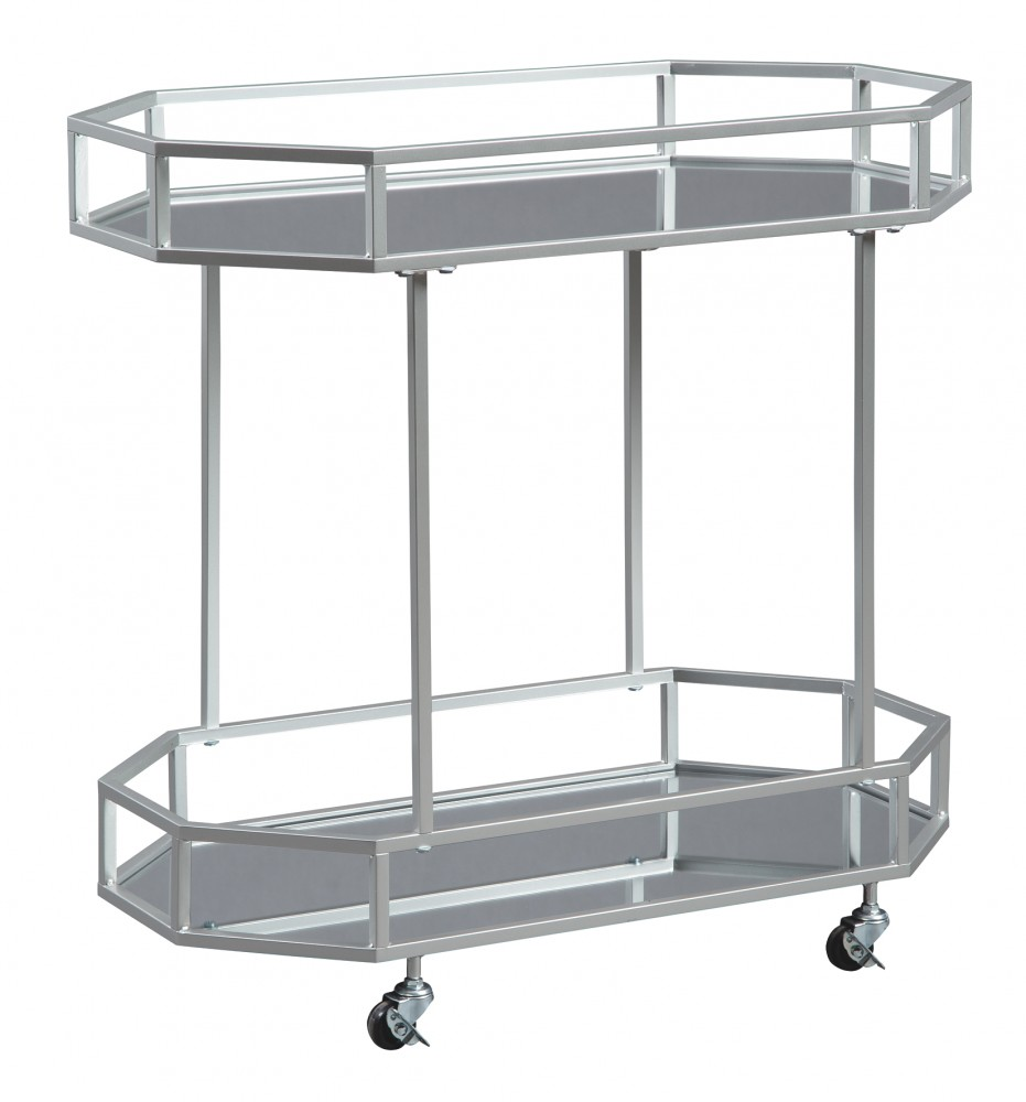 Kadinburg - Silver Finish - Bar Cart