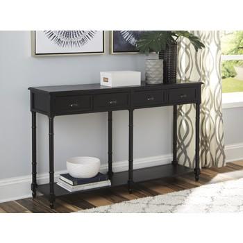 Eirdale - Black - Console Sofa Table