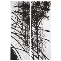 Jace - Black/White/Gray - Wall Art Set (2/CN)