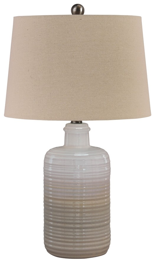 Marnina - Taupe - Ceramic Table Lamp (2/CN)