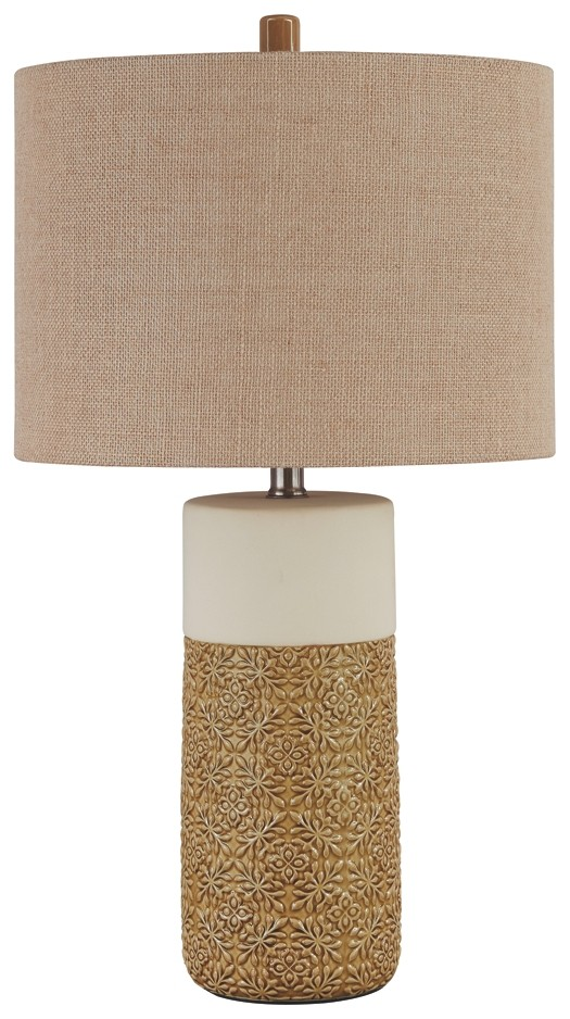 Evalyn - Ochre - Ceramic Table Lamp (2/CN)