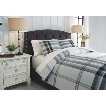 Stayner - Black/Gray - King Comforter Set