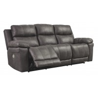 Erlangen - Midnight - PWR REC Sofa with ADJ Headrest