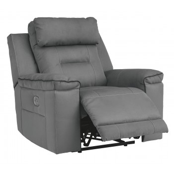 Trampton - Smoke - PWR Recliner/ADJ Headrest