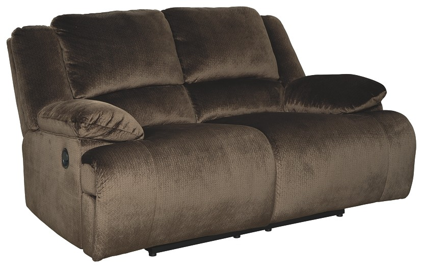 Superb Clonmel Chocolate Reclining Loveseat Gmtry Best Dining Table And Chair Ideas Images Gmtryco