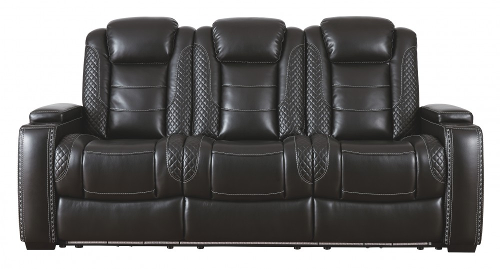 Party Time - Midnight - PWR REC Sofa with ADJ Headrest