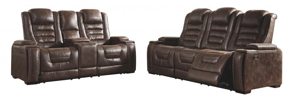 Game Zone Bark Pwr Rec Sofa With Adj Headrest 3850115