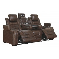 Game Zone - Bark - PWR REC Sofa with ADJ Headrest