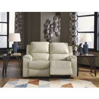 Rackingburg - Vanilla - Reclining Power Loveseat