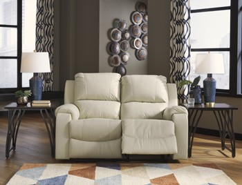 Rackingburg - Vanilla - Reclining Loveseat