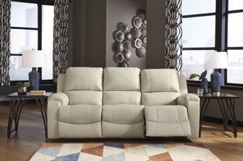 Rackingburg - Vanilla - Reclining Power Sofa