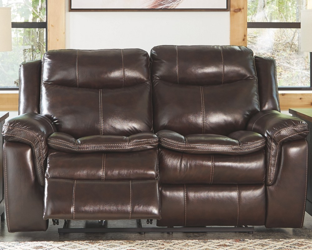 Lockesburg Canyon Reclining Power Loveseat Leather