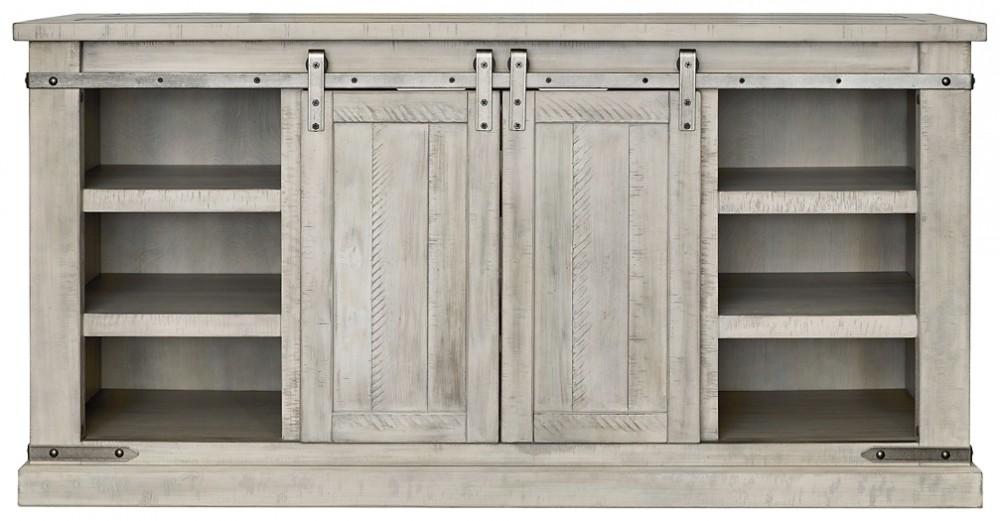 Carynhurst - White Wash - Large TV Stand