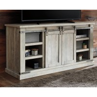 Carynhurst - White Wash - Large TV Stand