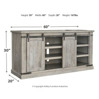 Carynhurst White Wash Large Tv Stand W755 48 Tv