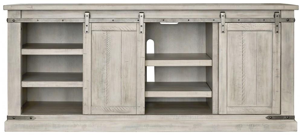 Carynhurst - White Wash - Extra Large TV Stand