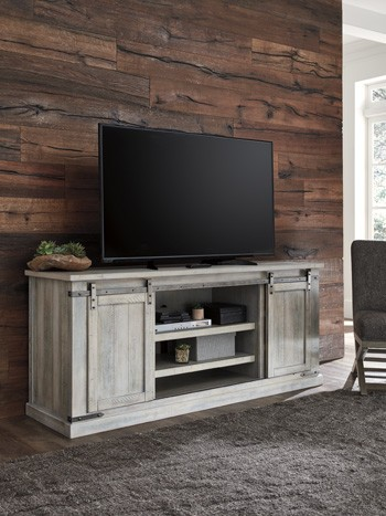 Carynhurst White Wash Extra Large Tv Stand W755 68