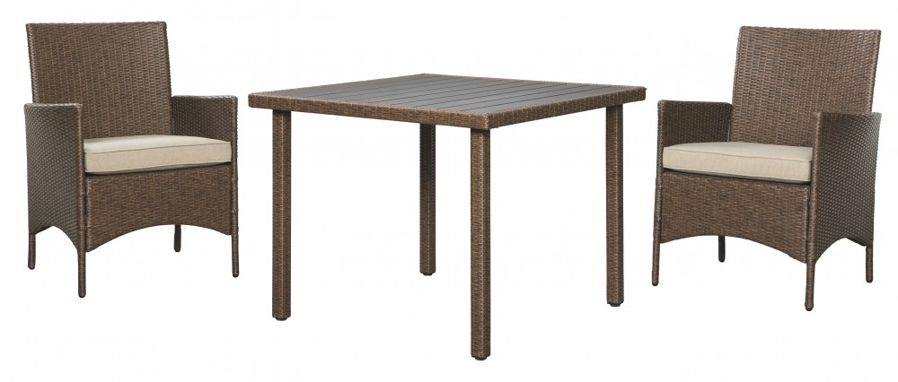 Reedenhurst - Brown - Square Dining Table Set (3/CN)