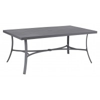 Donnalee Bay - Dark Gray - RECT Dining Table w/UMB OPT