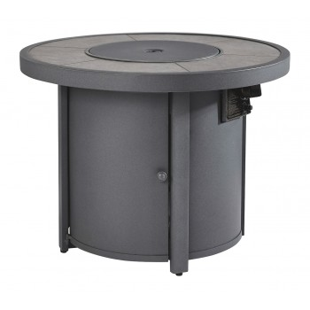 Donnalee Bay - Dark Gray - Round Fire Pit Table