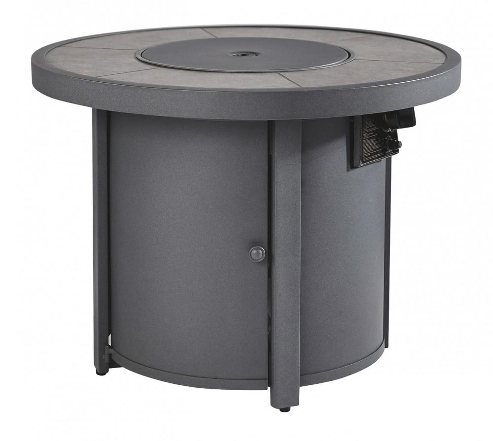 Donnalee Bay - Dark Gray - Round Fire Pit Table