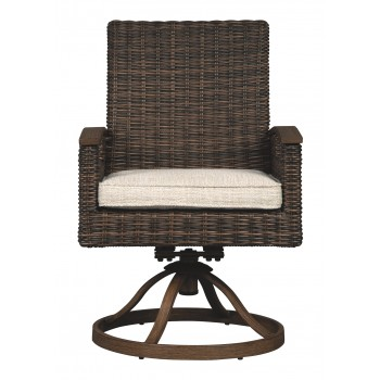 Paradise Trail - Medium Brown - Swivel Chair w/Cushion (2/CN)