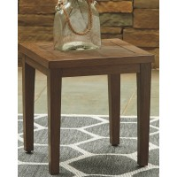 Paradise Trail - Medium Brown - Square End Table