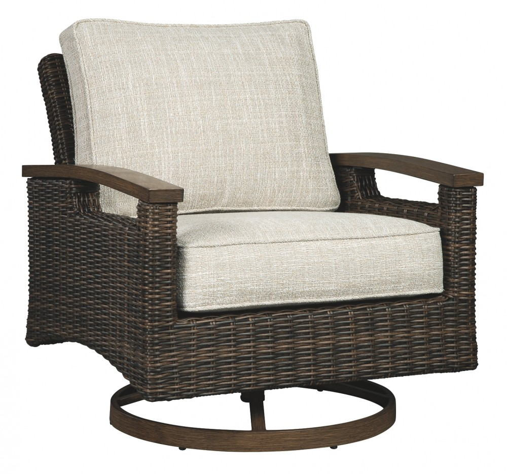 Paradise Trail Medium Brown Swivel Lounge Chair 2 Cn