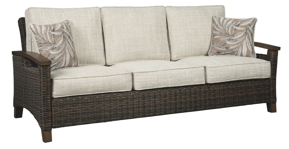 Paradise Trail - Medium Brown - Sofa with Cushion