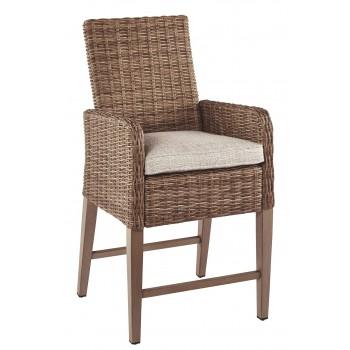 Beachcroft - Beige - Barstool with Cushion (2/CN)