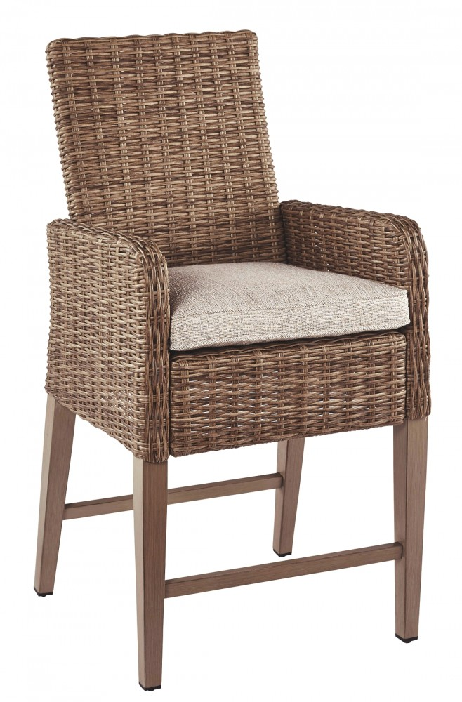 Beachcroft - Beige - Barstool with Cushion (2/CN)