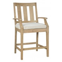 Clare View - Beige - Barstool with Cushion (2/CN)