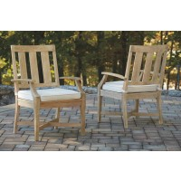 Clare View - Beige - Arm Chair With Cushion (2/CN)